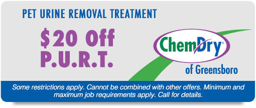 Chem-Dry of Greensboro Cleaning Coupon $20 off PURT
