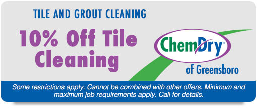 Chem-Dry of Greensboro coupons 10% off Tile Cleaning