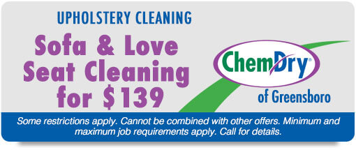 chem dry greensboro coupon sofa and love seat cleaning for $139